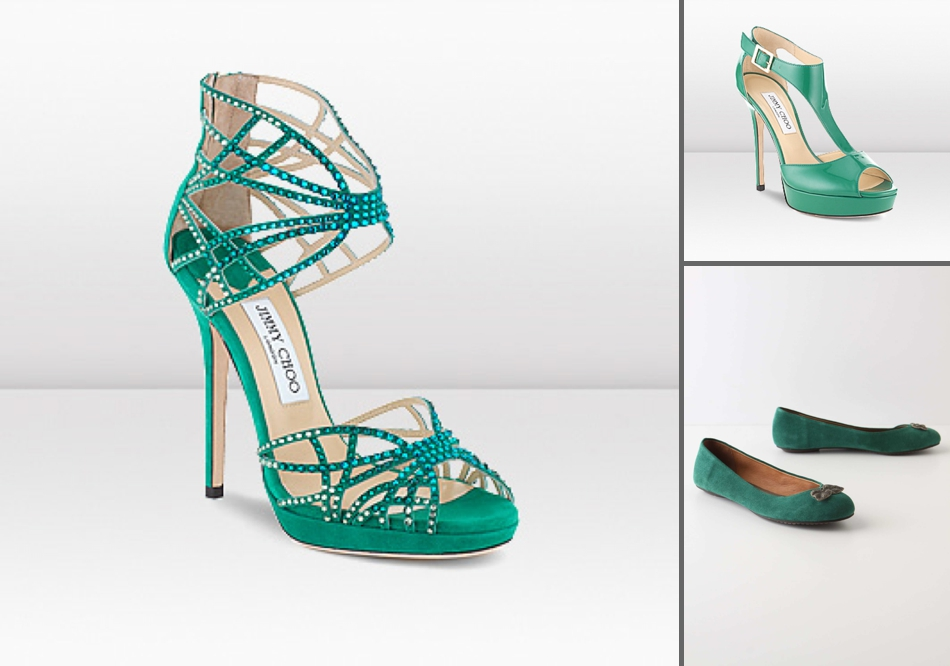 8efef032802cc Add a touch of colour with these shoes. For heels we ve spotted two top   Nature garden wedding theme Shades of green ...