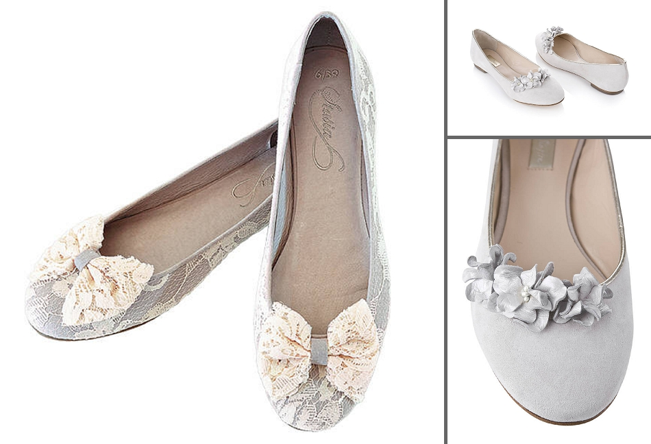 c8253d171c7 Delicate lace and dreamy tones of cream and light taupe put these Stasia  Willow Lace Bow Ballerina Shoes (left) on our wish list.
