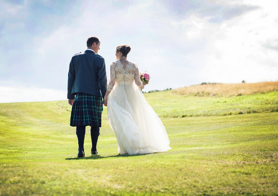 Isle of Arran wedding - garden wedding with outdoor ceremony on ...