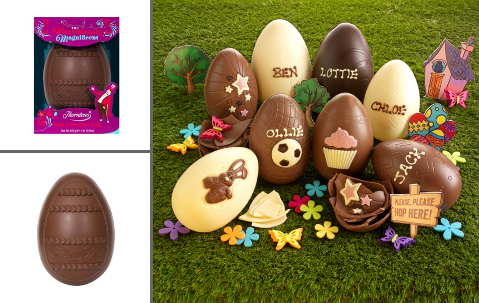Ideas inspiration easter gift ideas we fell in love if youve not yet bought an egg but are after something that shows some thought then pop along to thorntons and you can have your easter egg personalised negle Choice Image
