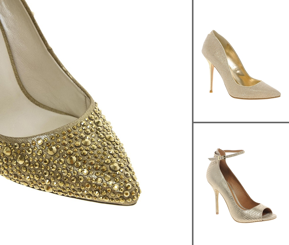Bridal Shoes Alternative: Gold, Silver & Metallic Wedding