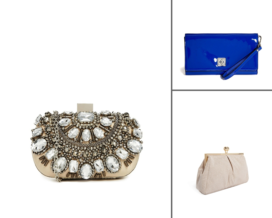 49c591196de2 We want  ALDO Enroelid beaded box clutch (for bling on a budget) – main  image  Karen Millen Patent clutch (a great something blue)  and Oasis  Glitter frame ...
