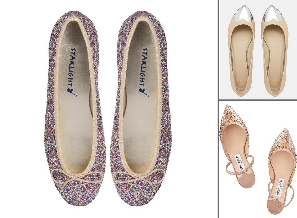 Relatively From ballet flats to bridal trainers - flat wedding shoes for  ZR43