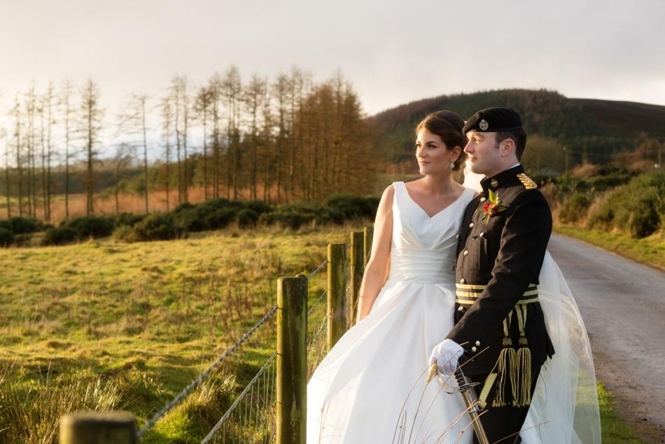 A winter wedding in a Scottish glen