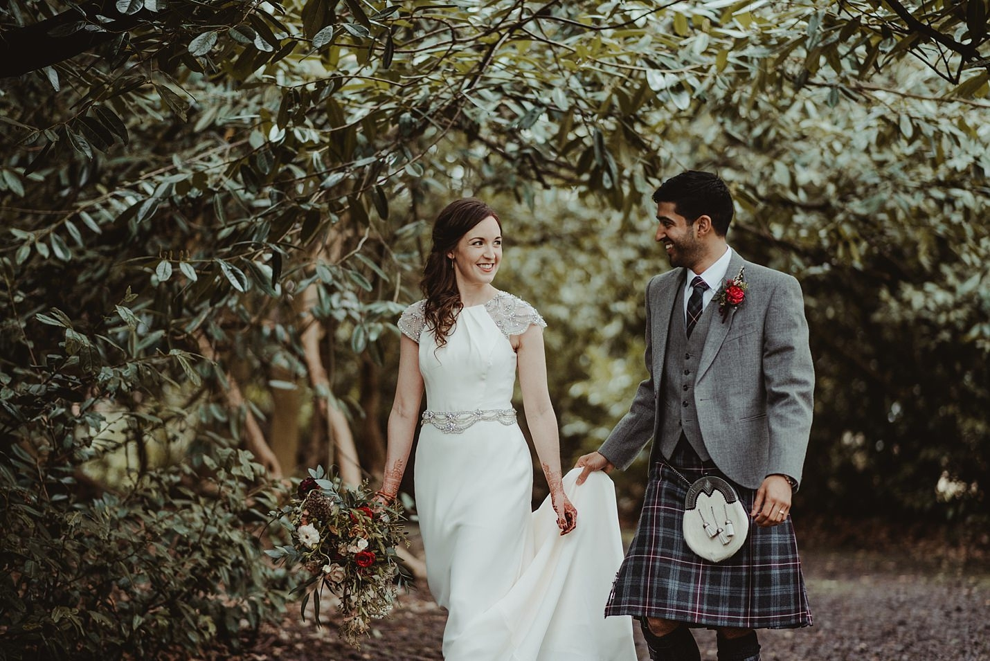 9273bfd8a45 A Scottish-Indian fusion wedding in a country byre