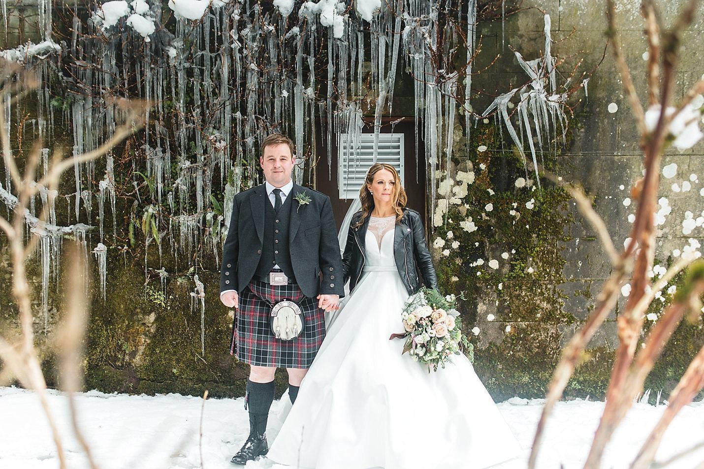 b3b2c40ae88388 A snowy winter wedding on the shores of Loch Lomond